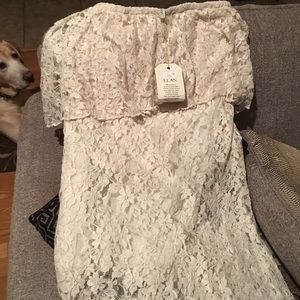 Dresses & Skirts - Lace off shoulder dress.